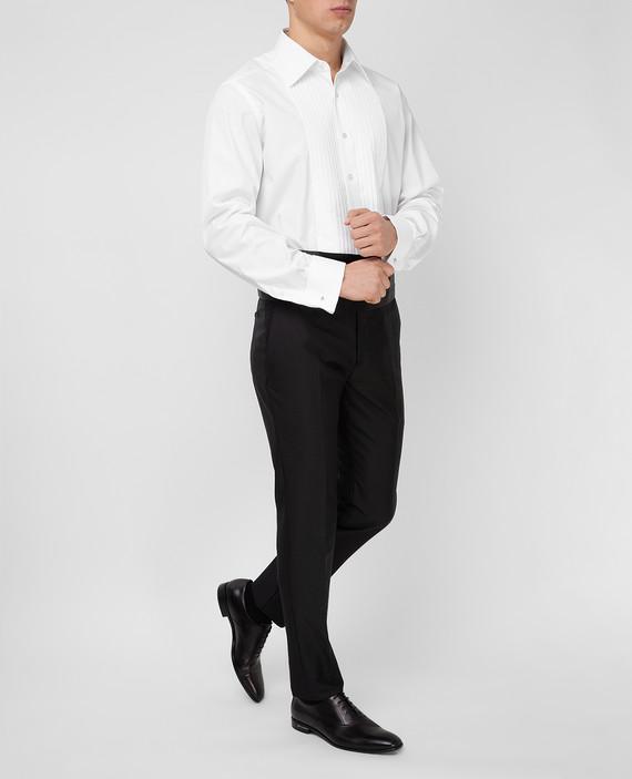 Черные брюки из мохера, шелка и шерсти hover