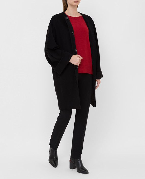 Черное пальто из шерсти hover