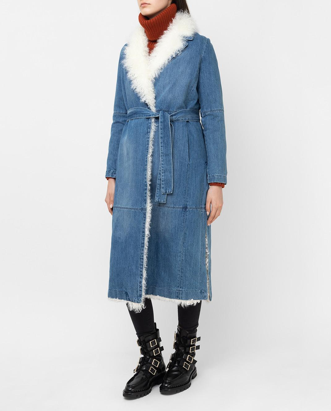 Simonetta Ravizza Синее джинсовое пальто VASIA3 изображение 3