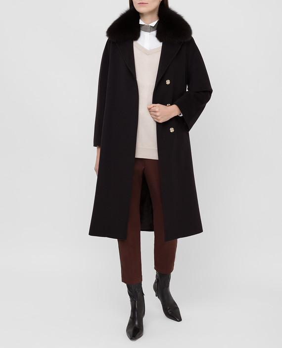Темно-коричневое пальто hover
