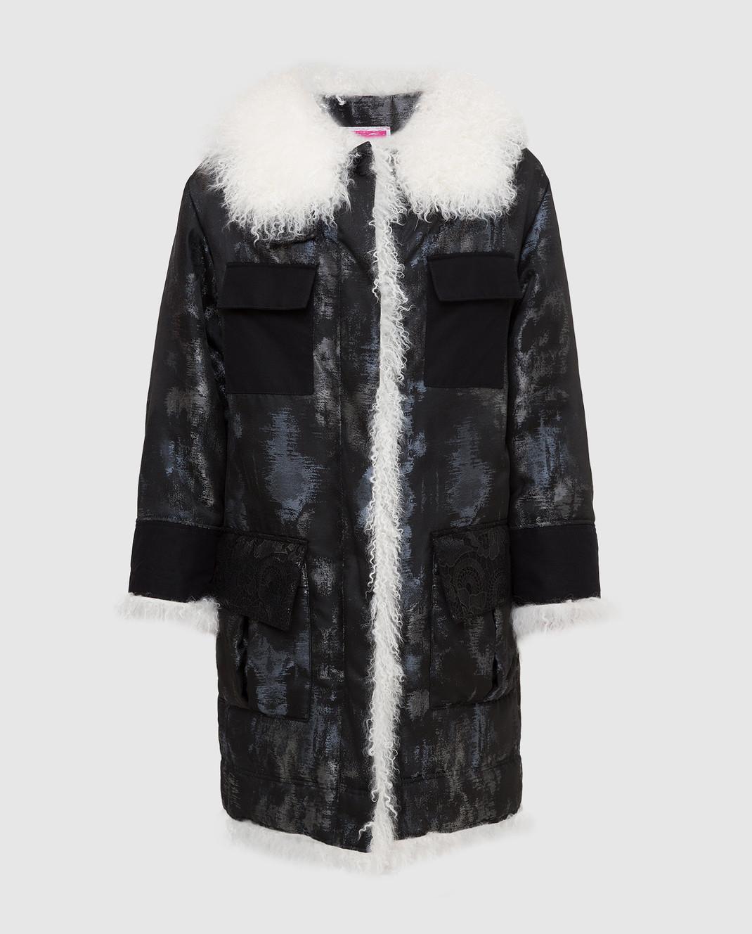 Gate 23 by Florence mode Черная куртка с мехом ламы G166J