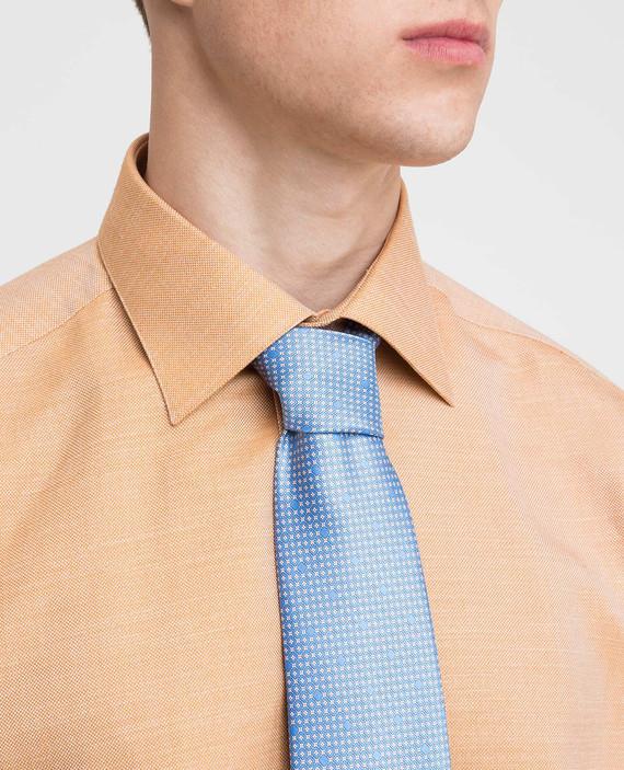 Голубой галстук ручной работы из шелка hover