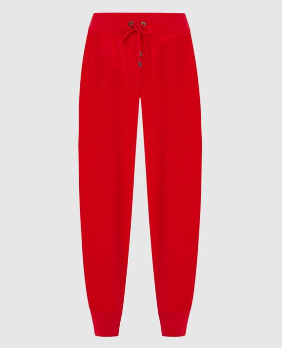 Красные брюки из кашемира