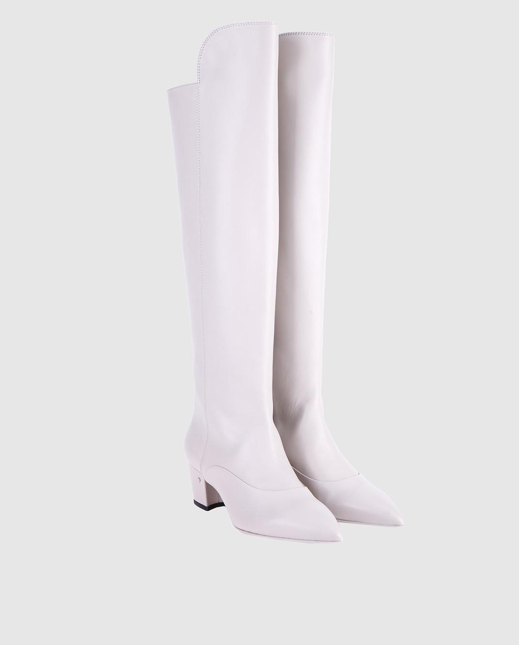 Laurence Dacade Серые кожаные сапоги SANDRINE изображение 2