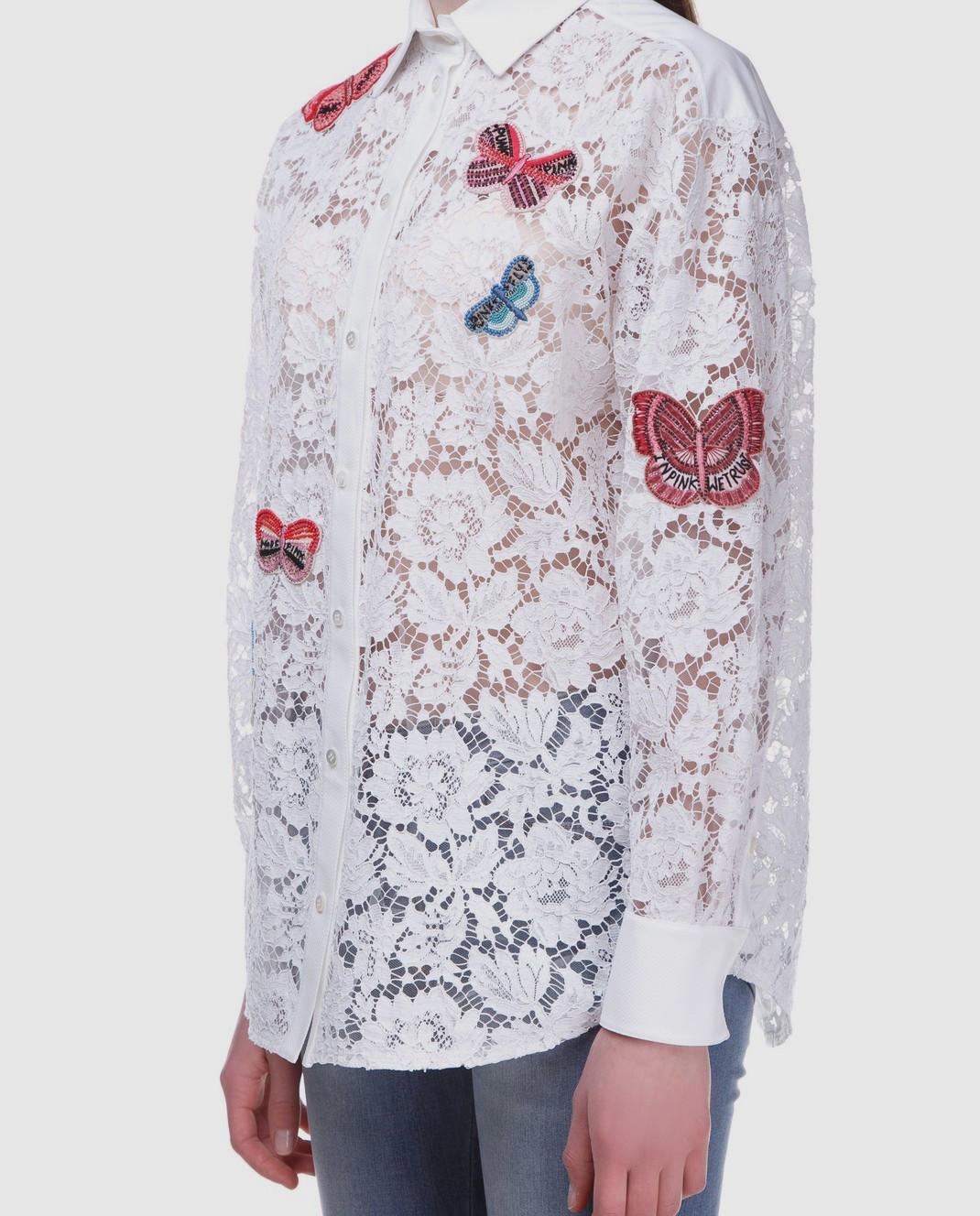 Valentino Белая блуза  PB3AB0U51EC изображение 3