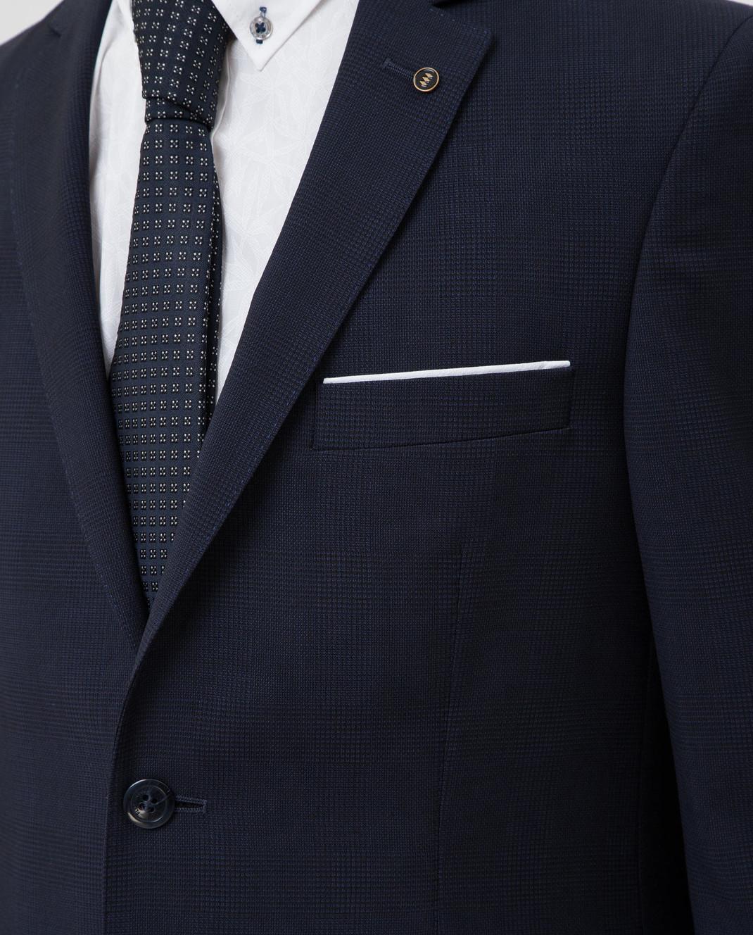 Florentino Темно-синий костюм из шерсти изображение 5