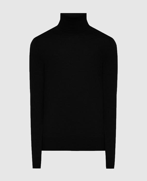 Черный гольф из шерсти