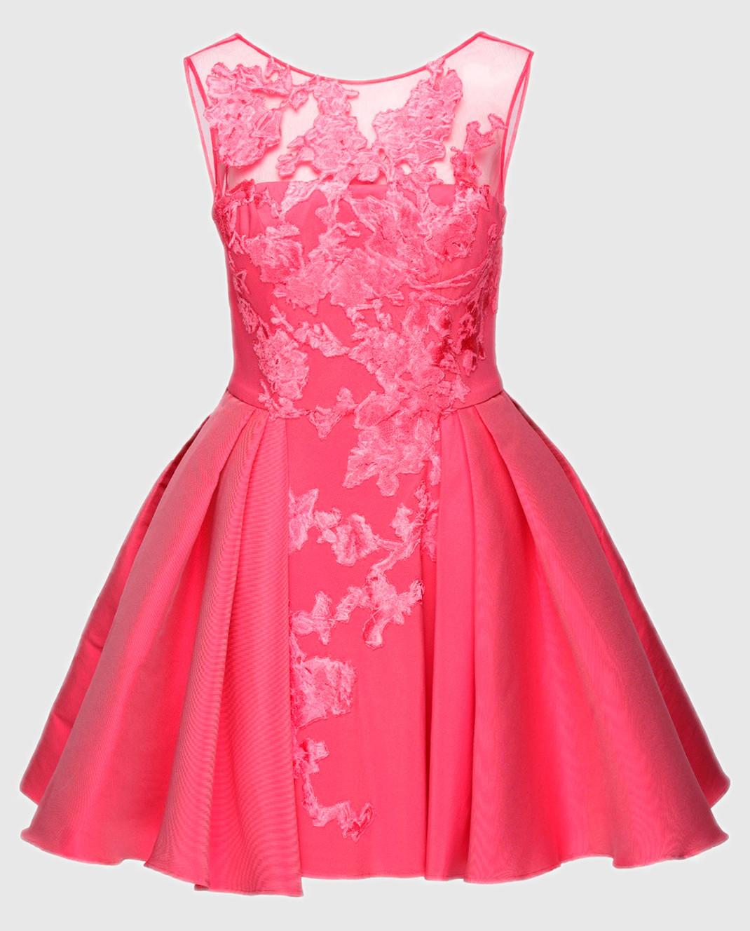 Zuhair Murad Розовое платье RDRS16047DS00
