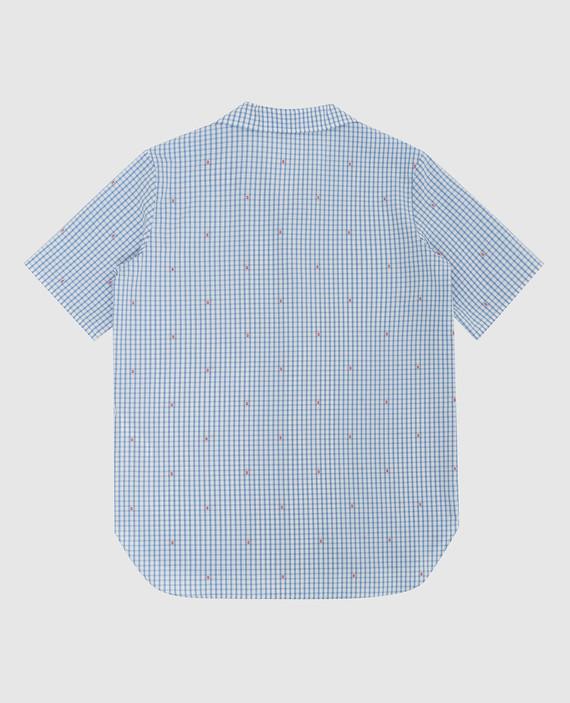 Детская голубая рубашка hover