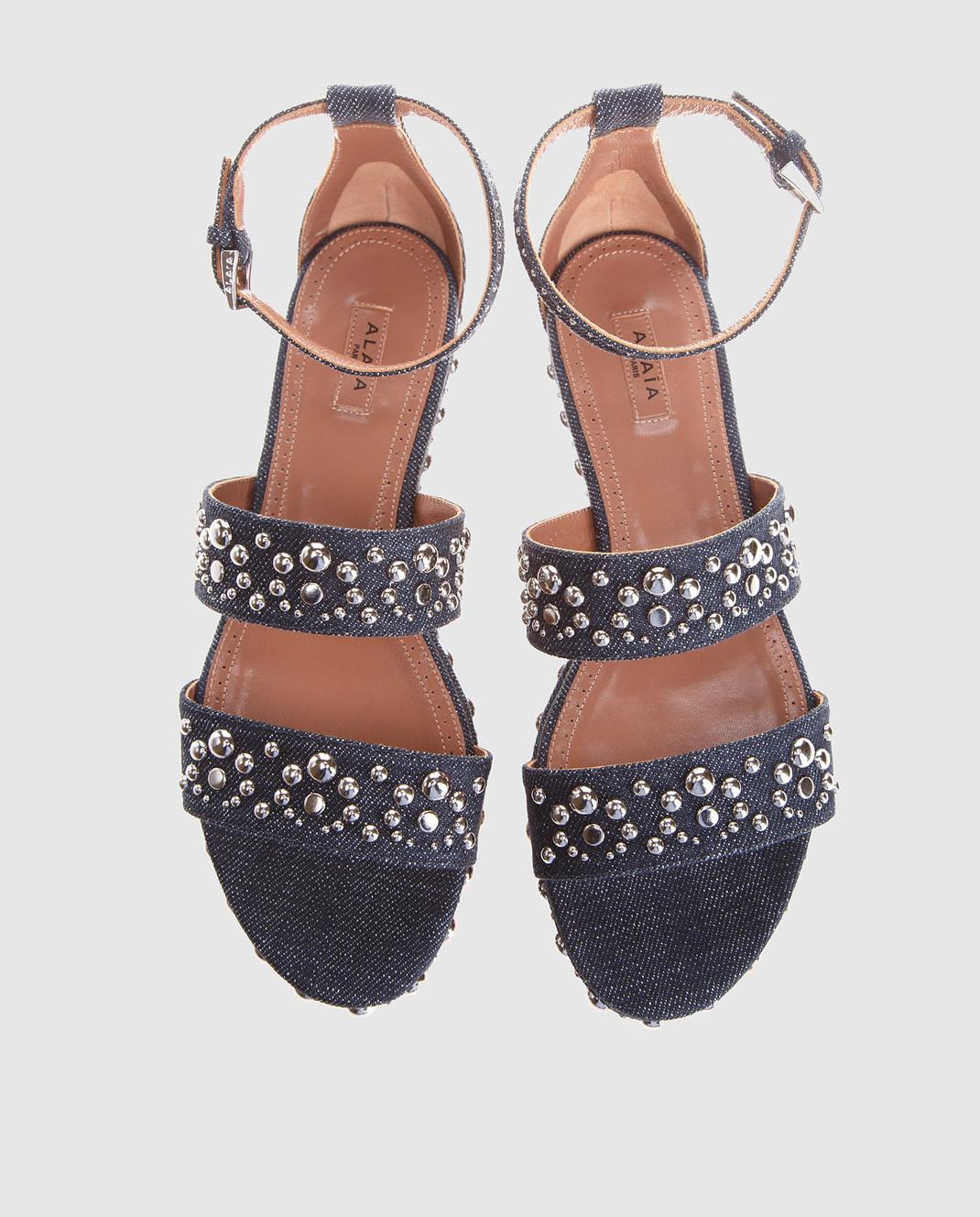 Azzedine Alaia Синие сандалии изображение 5