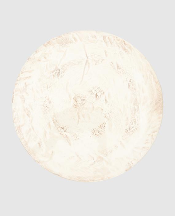 Бежевый столовый аксессуар из керамики ручной работы