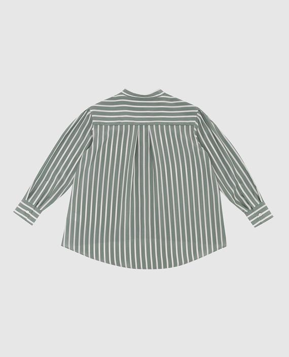 Детская зеленая блуза из шелка hover