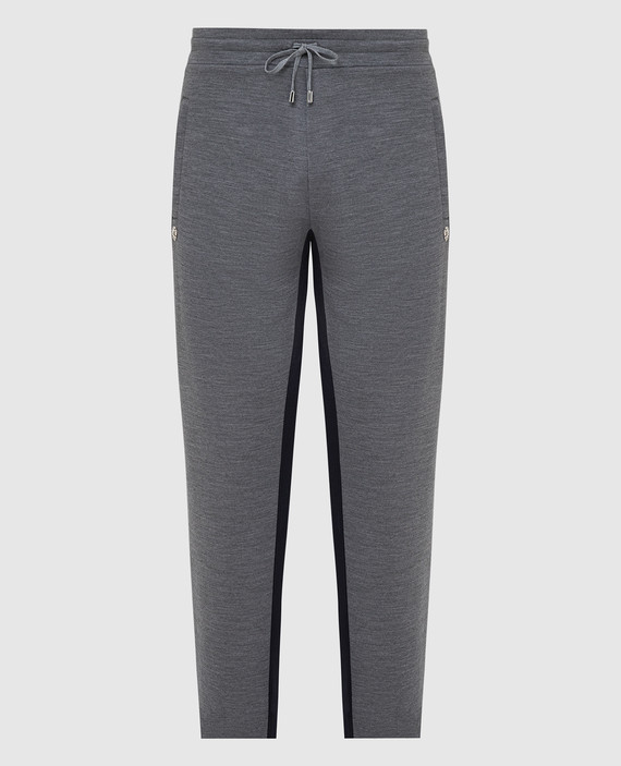 Серые спортивные брюки из шерсти