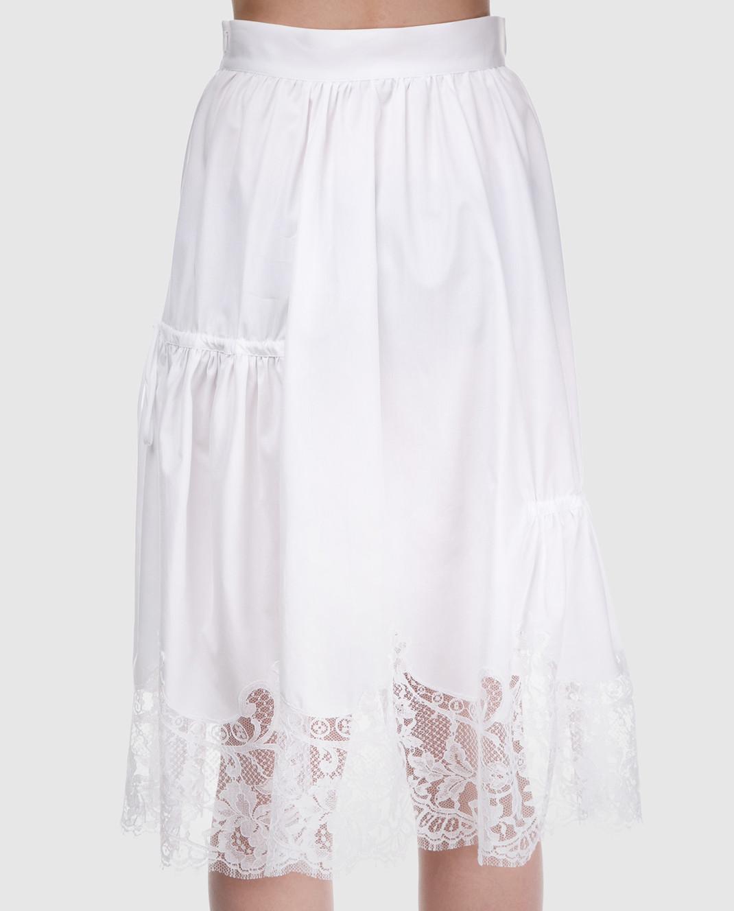 Ermanno Scervino Белая юбка D322O317MSC изображение 3