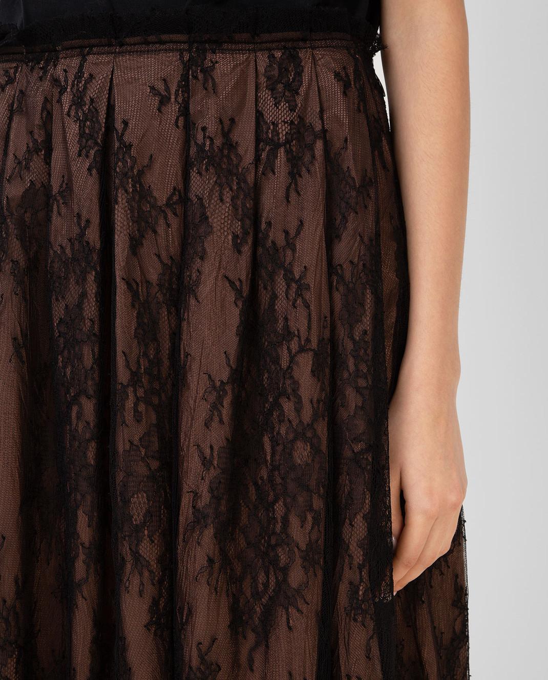 Valentino Коричневая юбка MB3RA295313 изображение 5