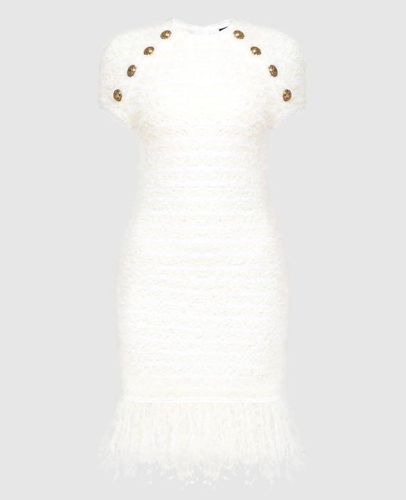 Светло-бежевое платье