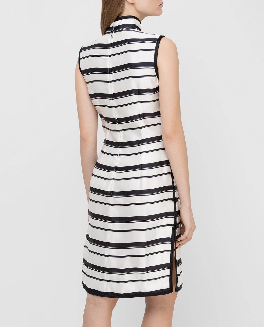 Dolce&Gabbana Белое платье из шелка F6XG7ZHS1D0 изображение 4