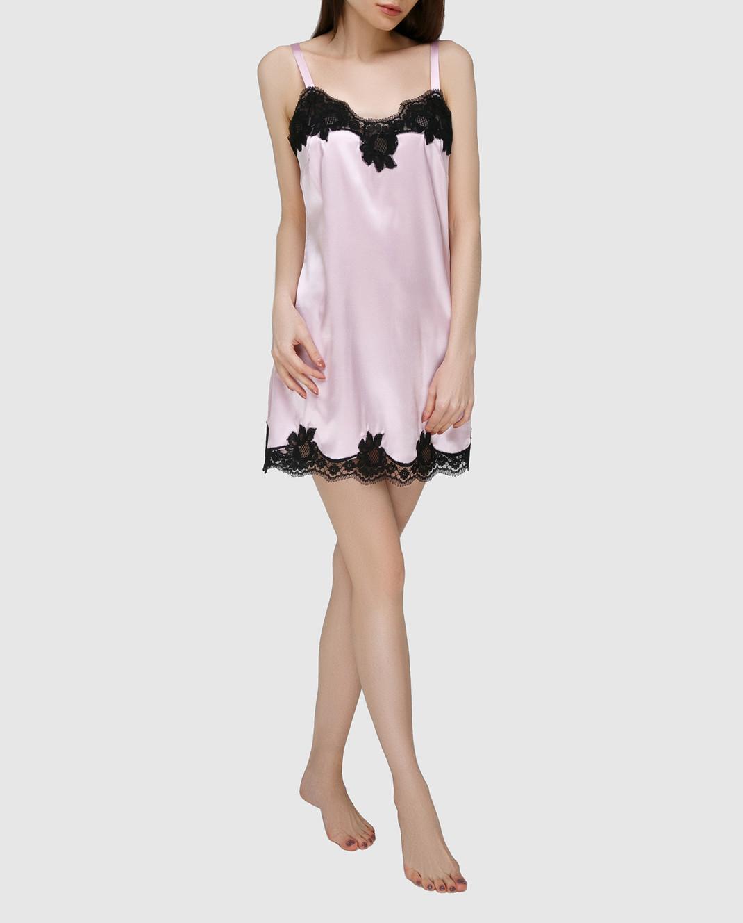 Dolce&Gabbana Розовая комбинация из шелка O6A00TFUADG изображение 2