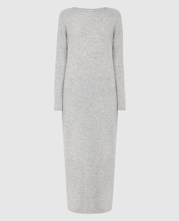 Серое платье из кашемира