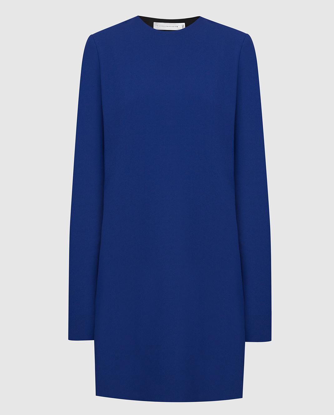 Victoria Beckham Синее платье 517