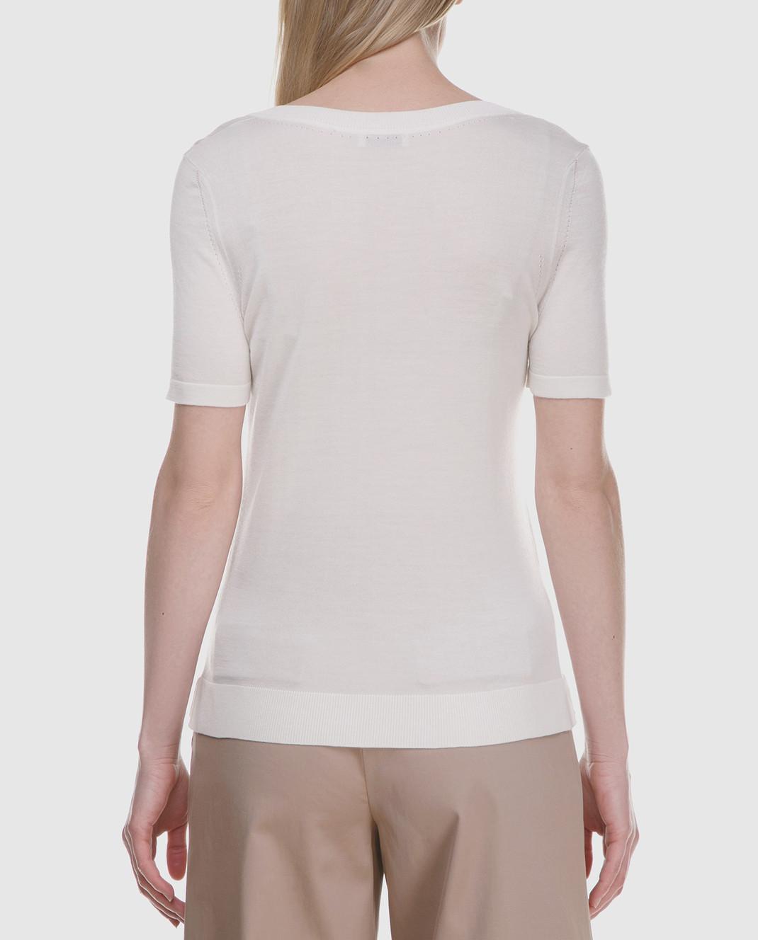 Maison Ullens Белый джемпер из кашемира и шелка TSS018 изображение 4