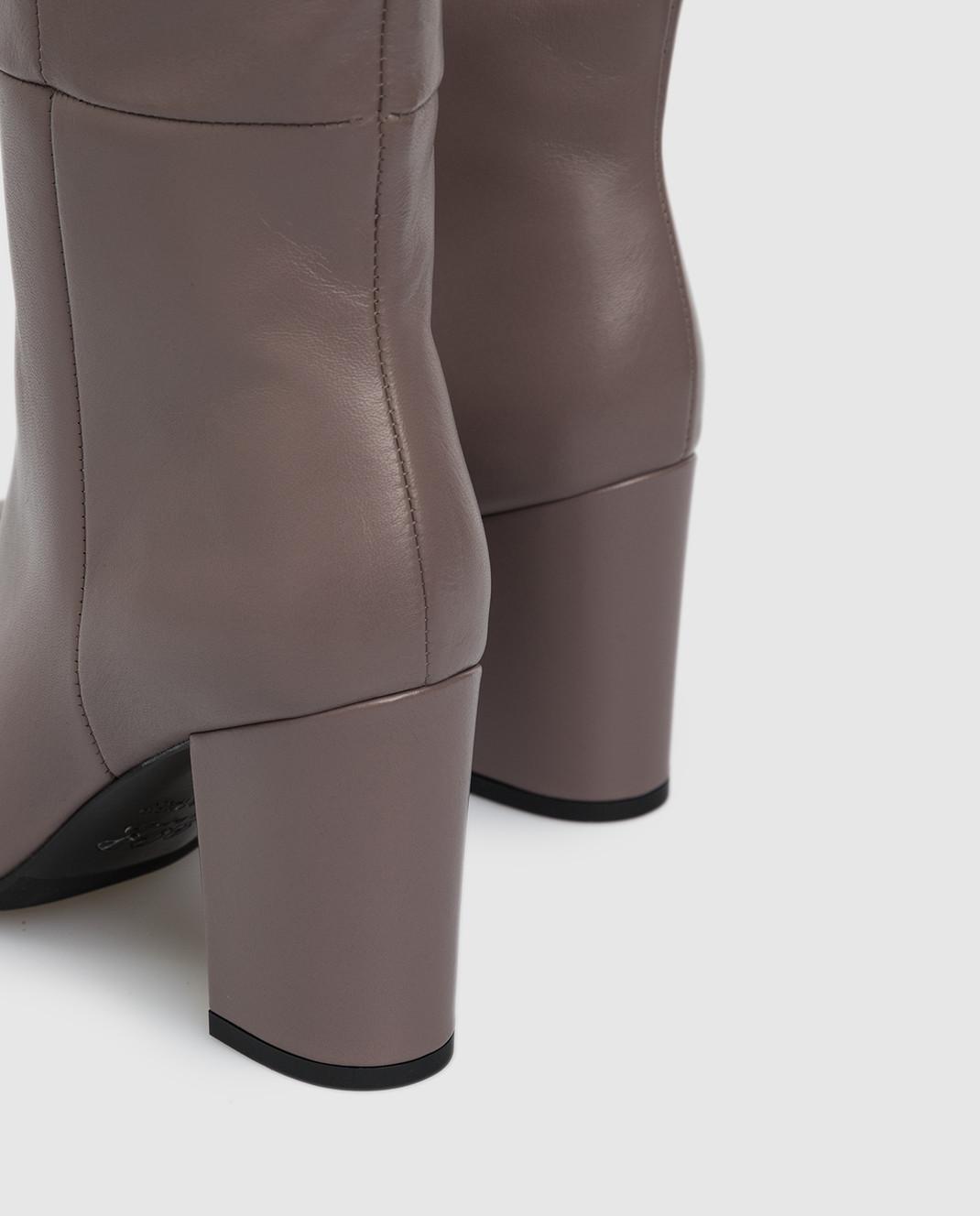 Babe Pay Pls Темно-бежевые кожаные сапоги изображение 5