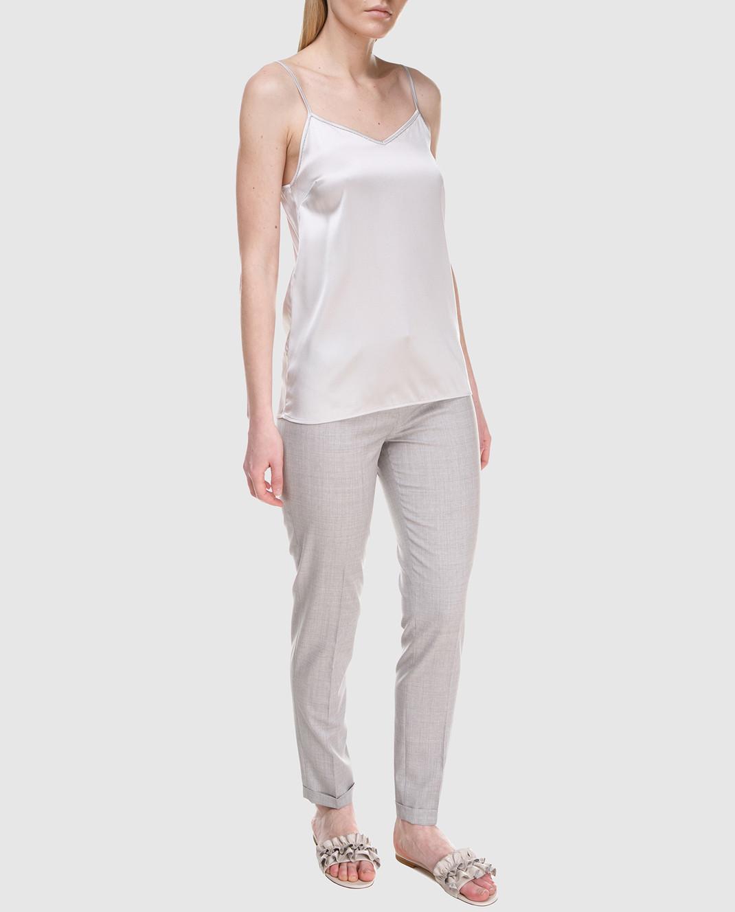 Fabiana Filippi Серые брюки из шерсти PG70118 изображение 2