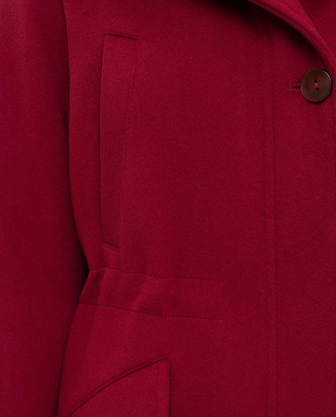 Heresis Красное пальто из шерсти P1290VO изображение 5