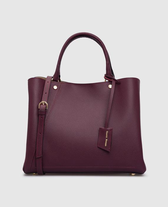 Темно-фиолетовая кожаная сумка
