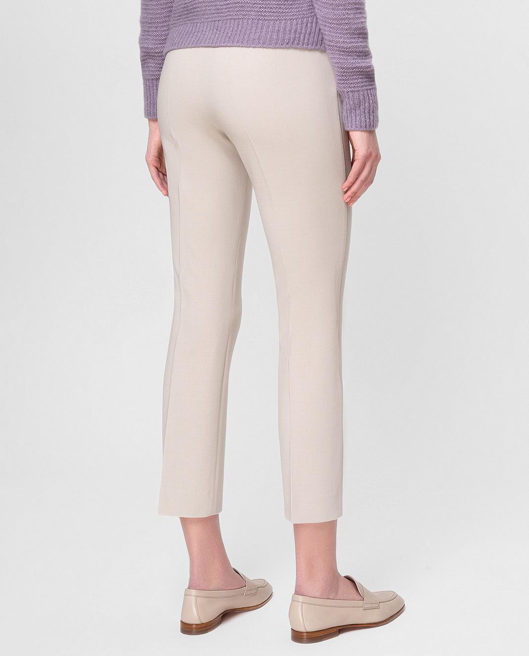 Max Mara Светло-бежевые брюки из шерсти OSTILE изображение 4