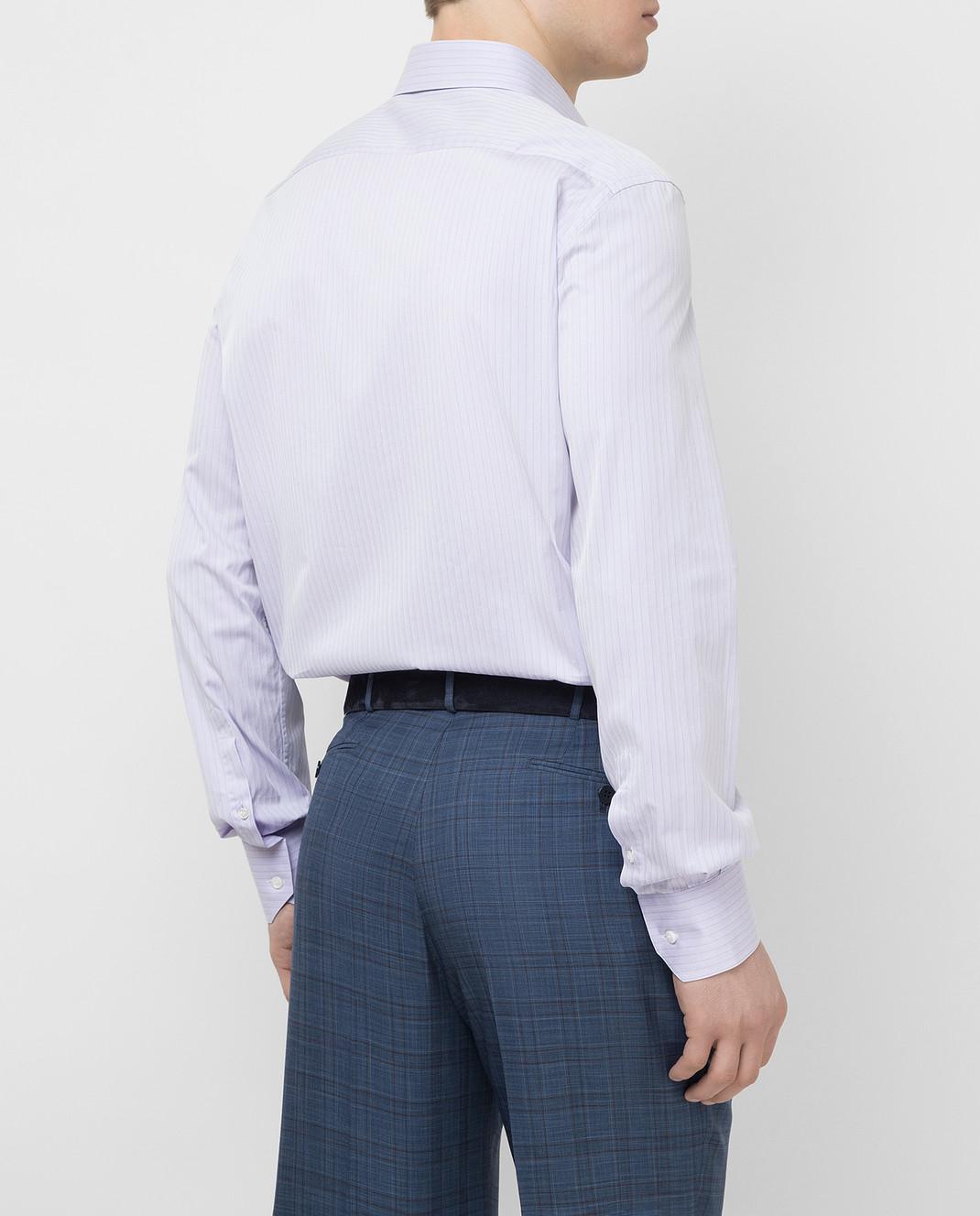 Stefano Ricci Сиреневая рубашка MC000540L1812 изображение 4