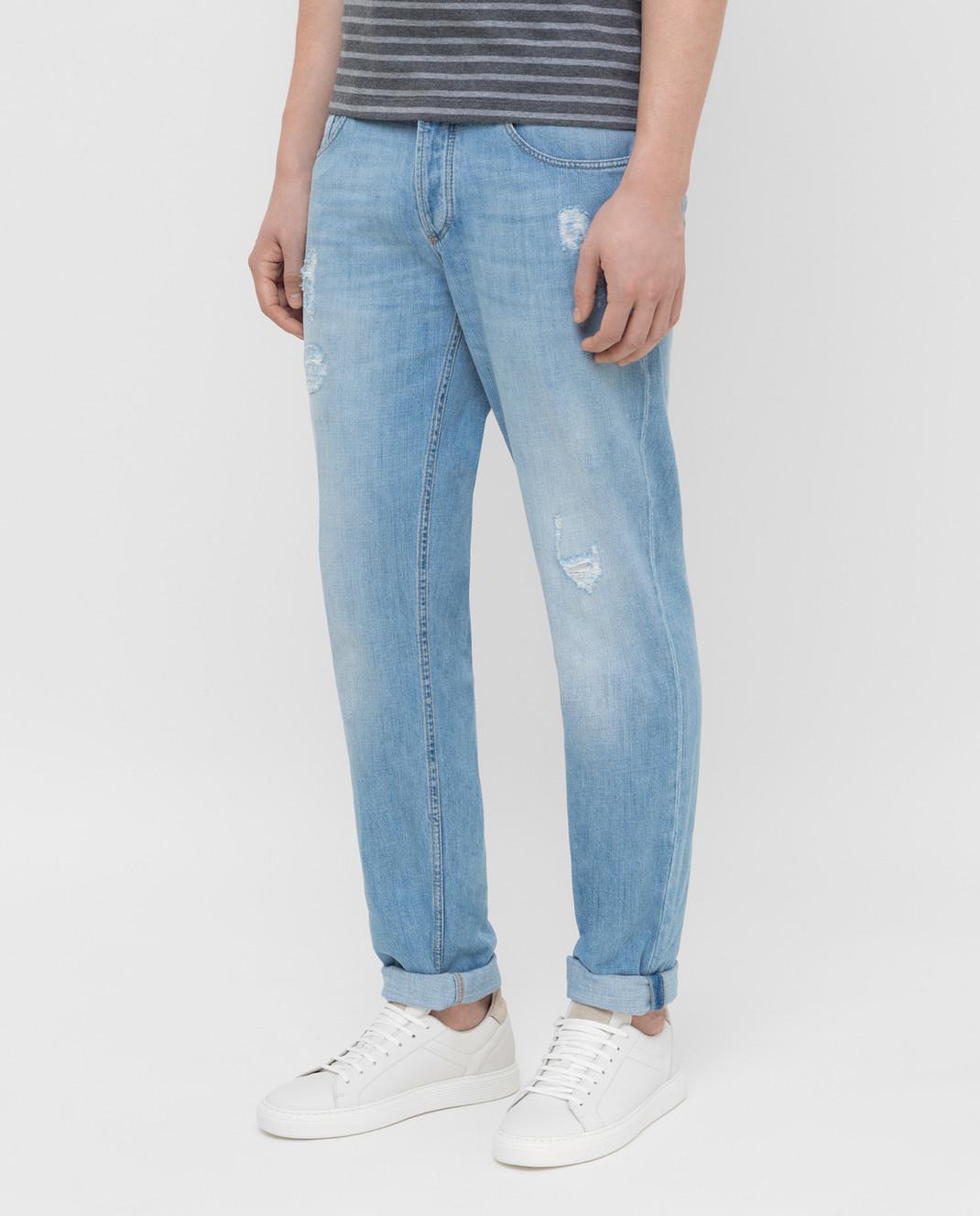 Brunello Cucinelli Голубые джинсы M0Z37D2360 изображение 3