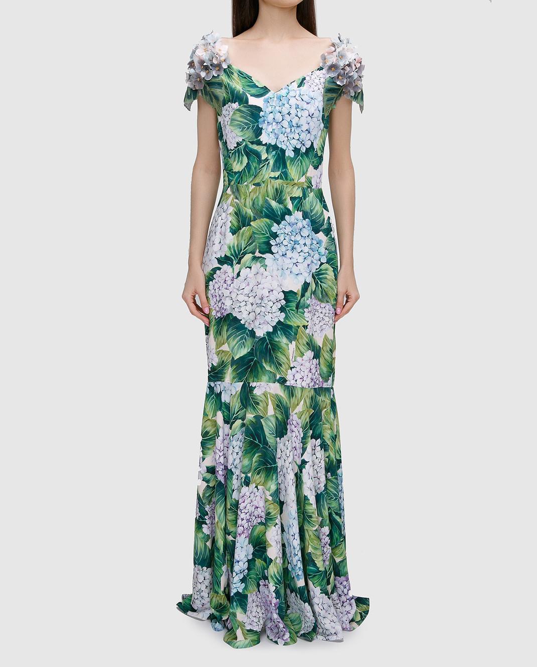 Dolce&Gabbana Зеленое платье изображение 3