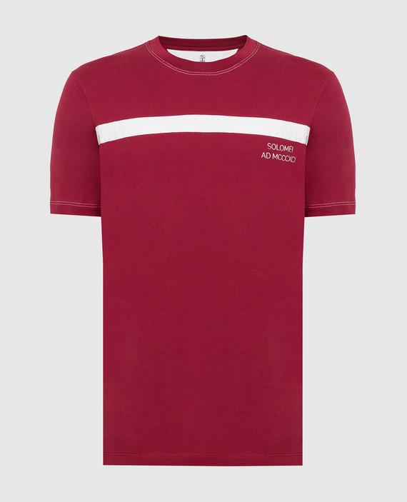 Светло-бордовая футболка