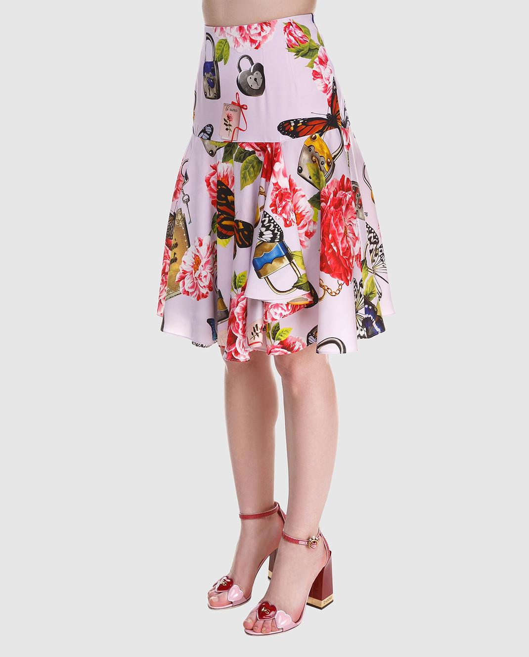 Dolce&Gabbana Юбка из шелка F4A8LTFSAUD изображение 4