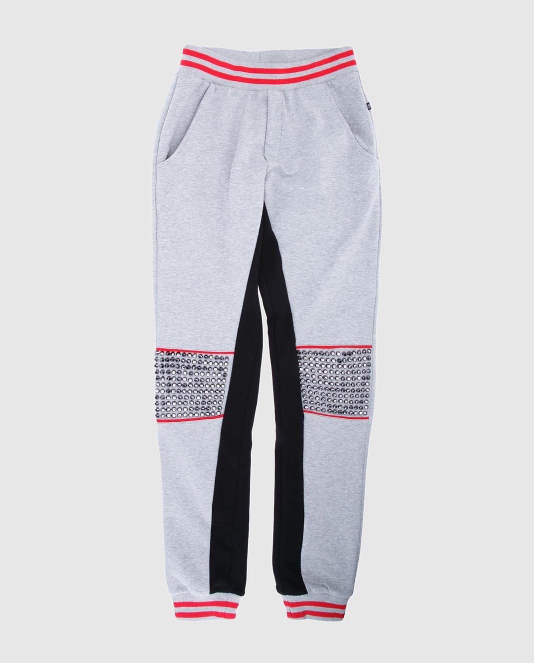 Philipp Plein Детские серые спортивные брюки BJT00591416