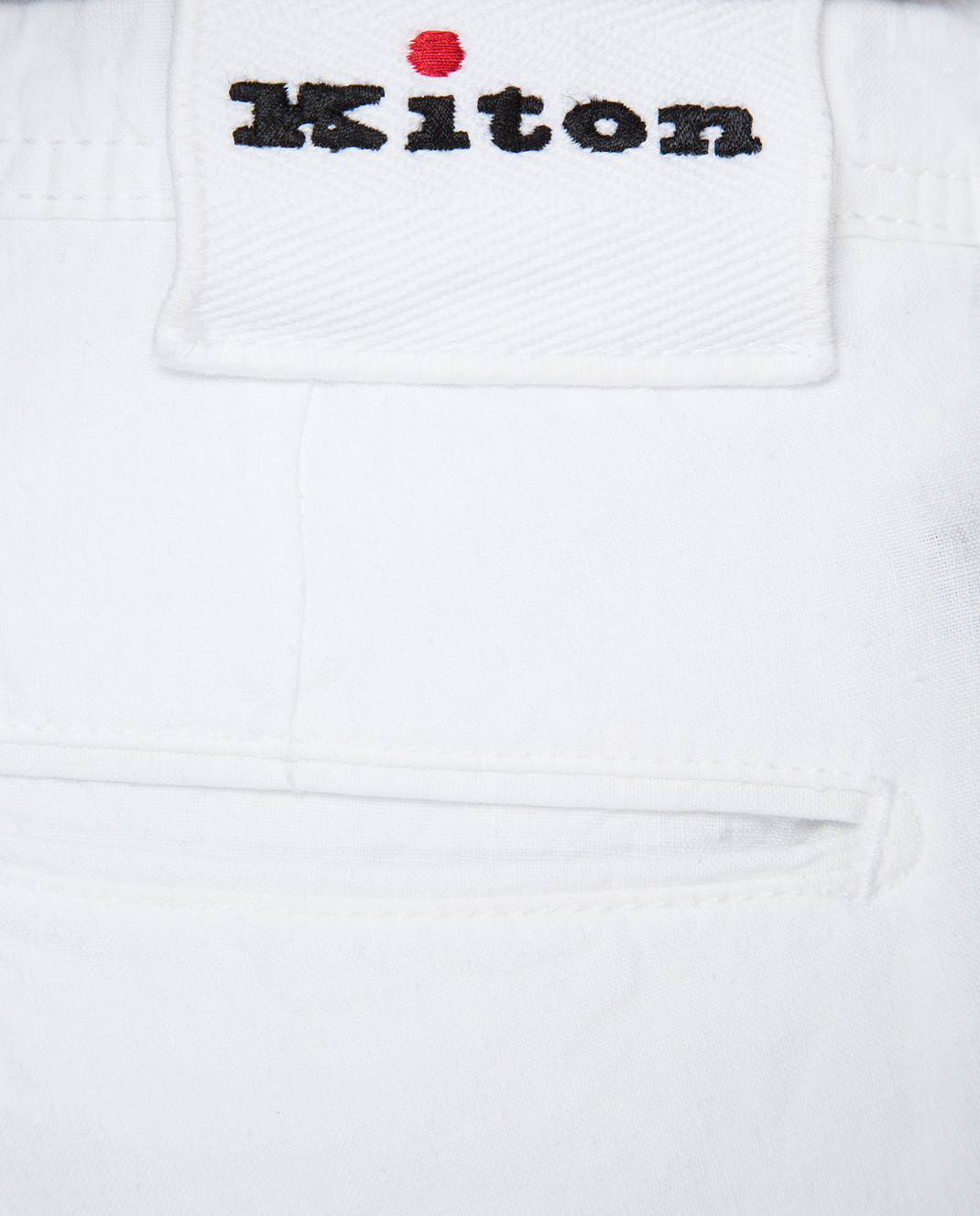 Kiton Белые шорты UPNJSBJ07R66 изображение 5