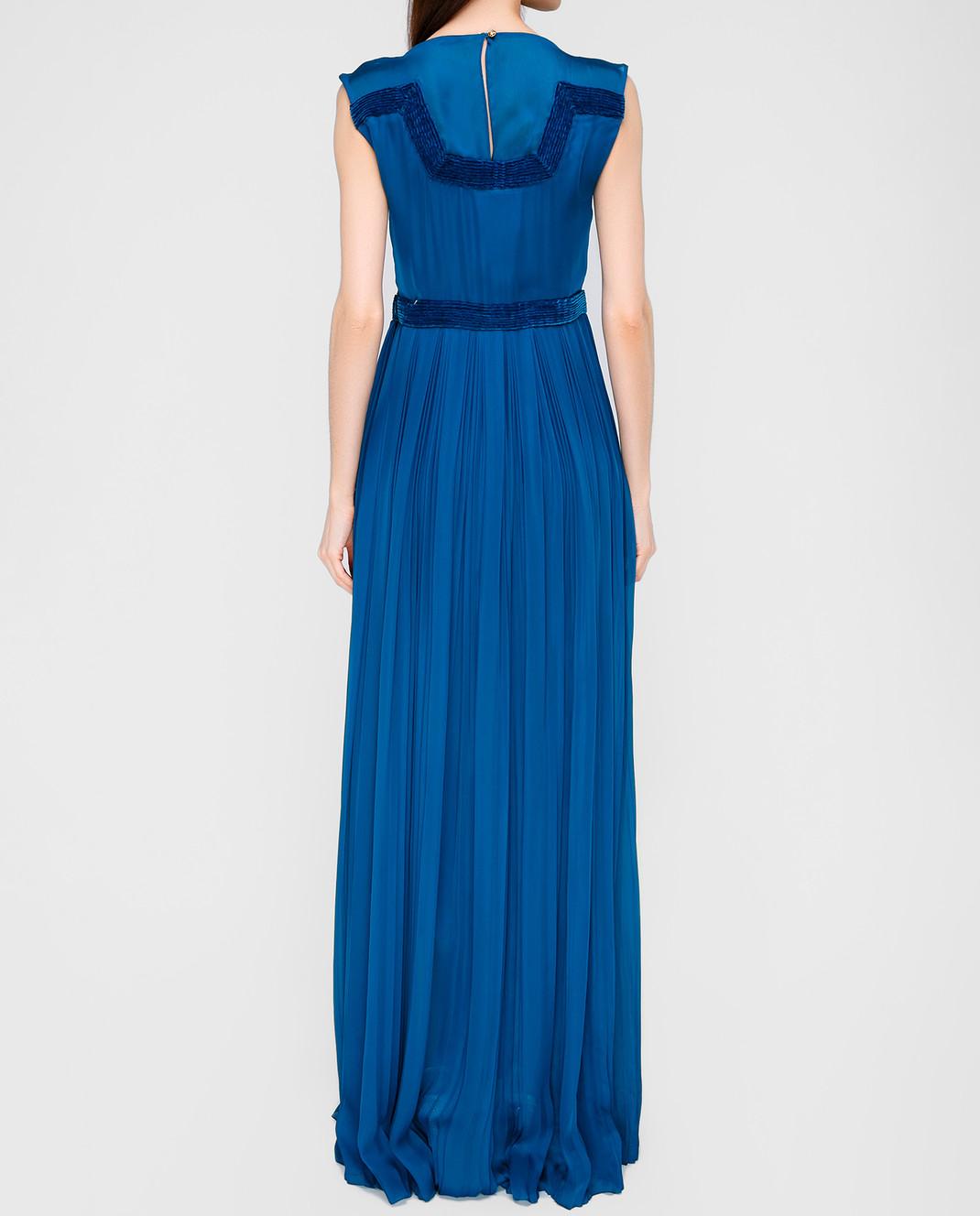 LARUSMIANI Синее платье из шелка 077581 изображение 4