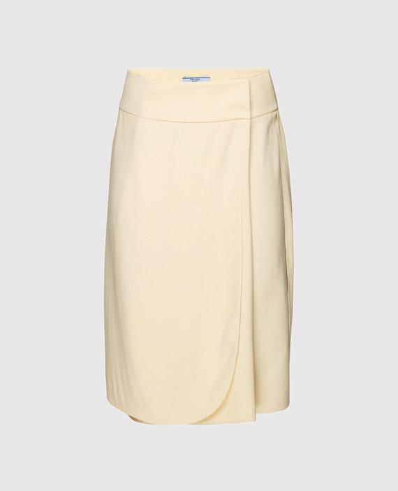Желтая юбка на запах