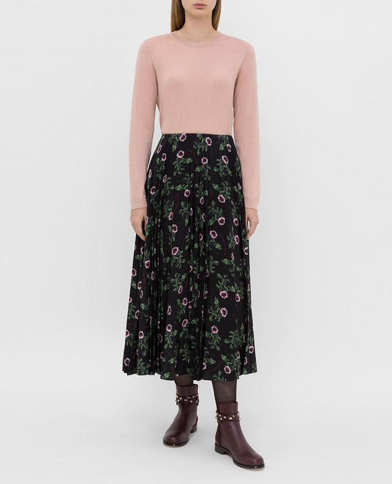 Черная юбка из шелка hover