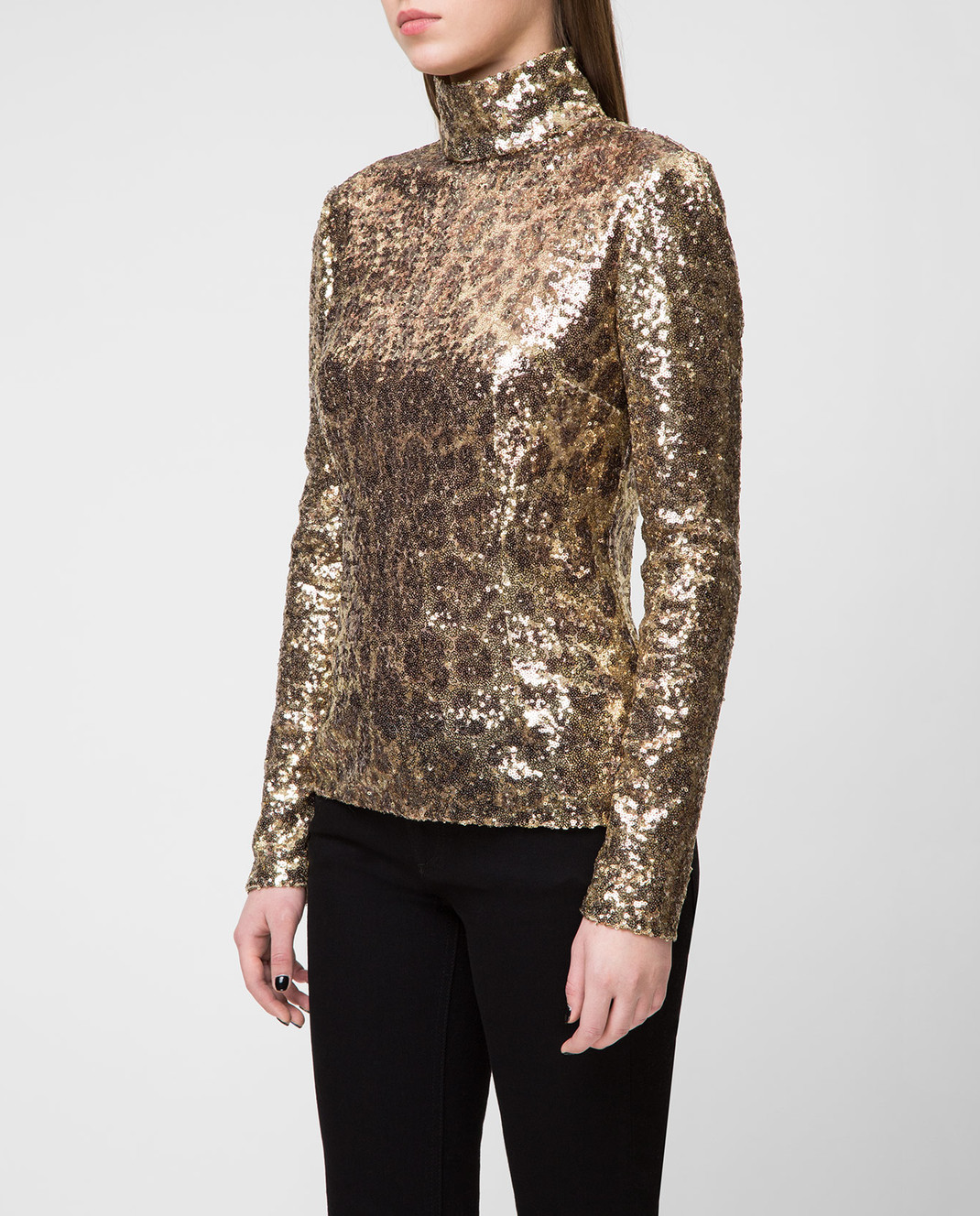 Dolce&Gabbana Золотистая блуза F72S3THSMTE изображение 3