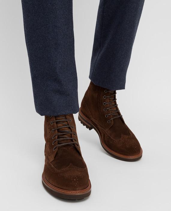 Коричневые замшевые ботинки hover