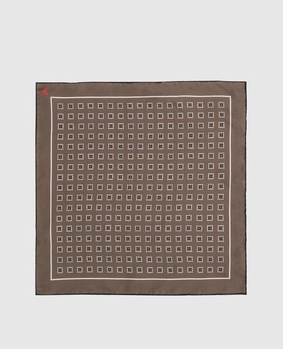 Коричневый платок из шелка