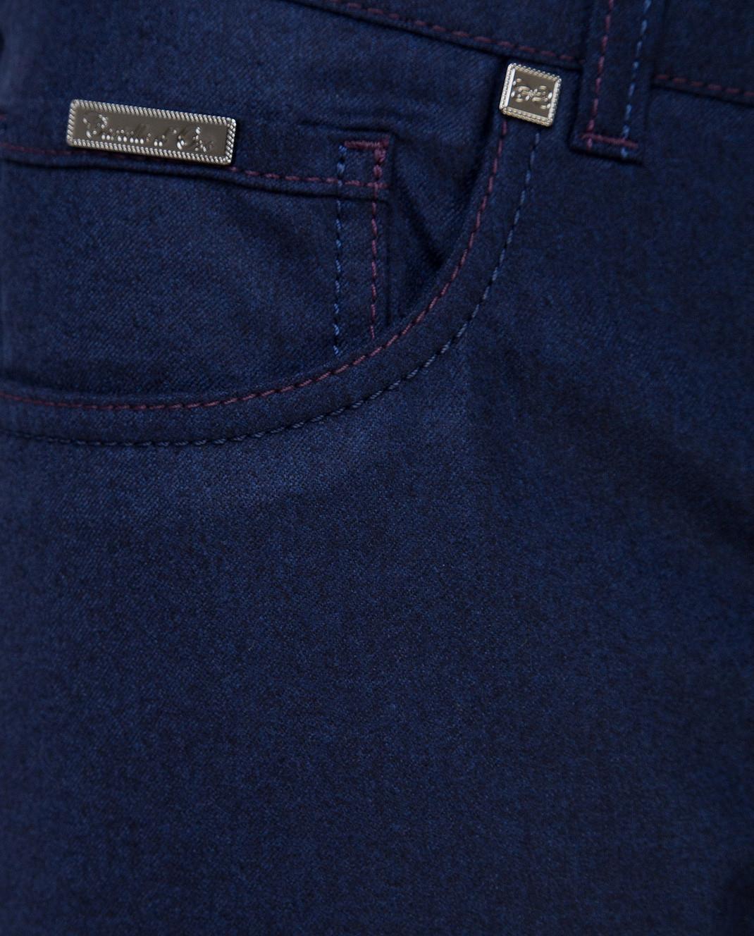 Castello d'Oro Темно-синие брюки из шерсти изображение 5