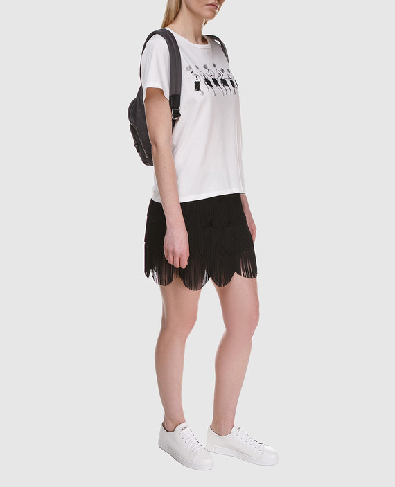 Черная юбка с бахромой hover