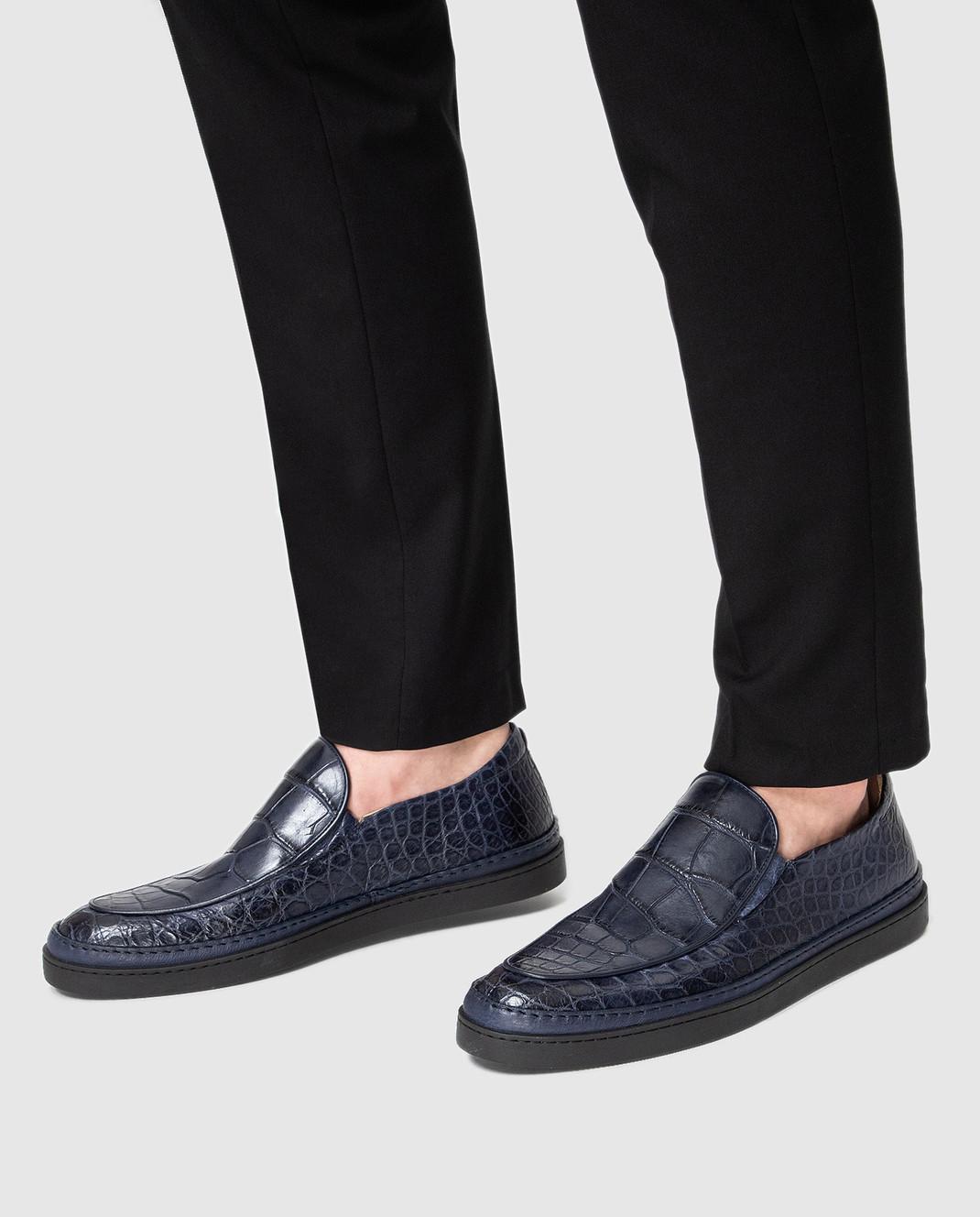 Del Dami Синие туфли из кожи аллигатора изображение 2