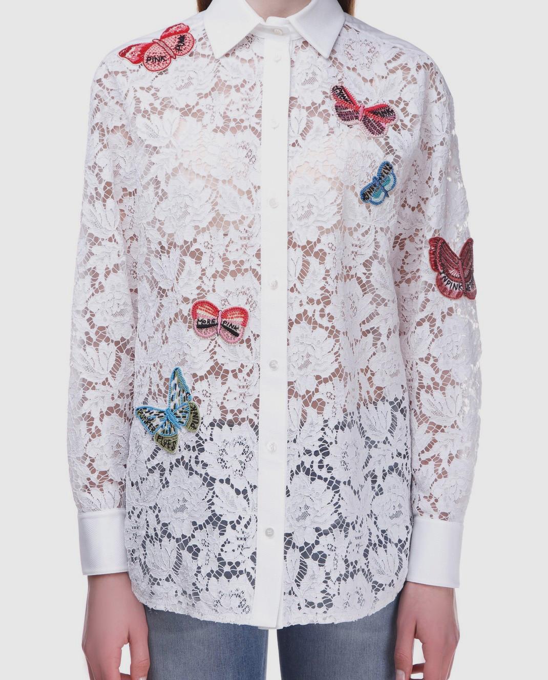 Valentino Белая блуза  PB3AB0U51EC изображение 4