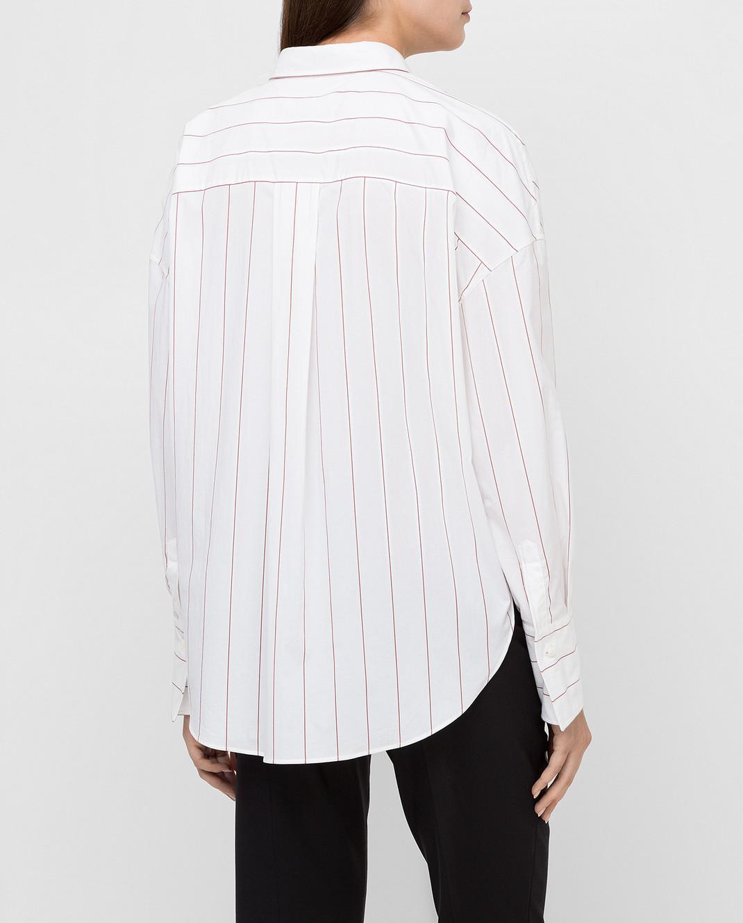 Brunello Cucinelli Белая рубашка MA731MF316 изображение 4