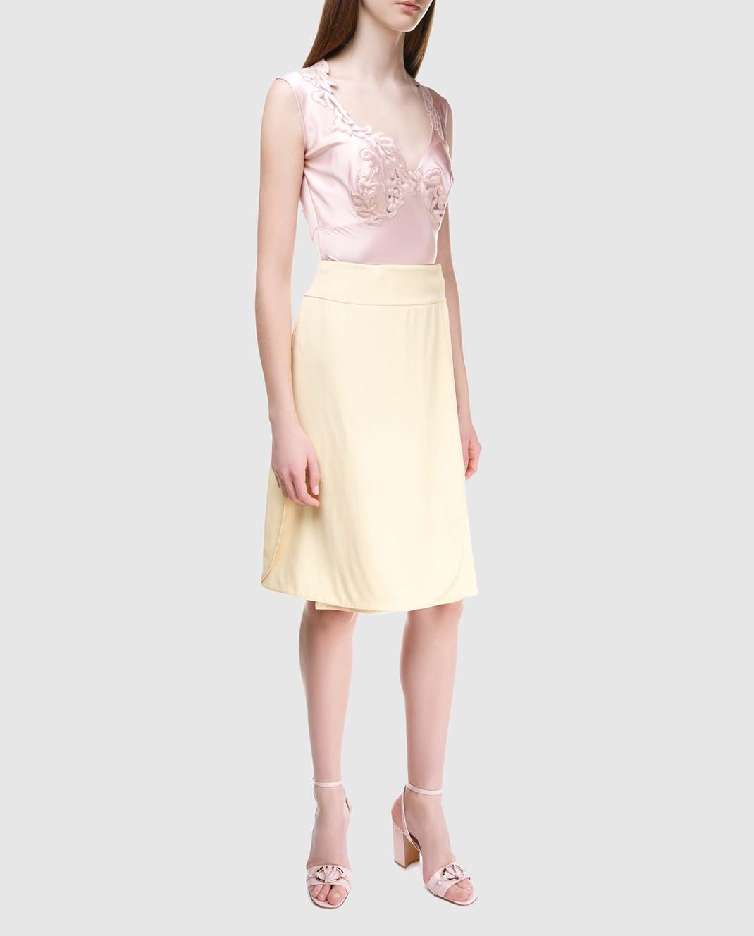Prada Желтая юбка на запах изображение 2