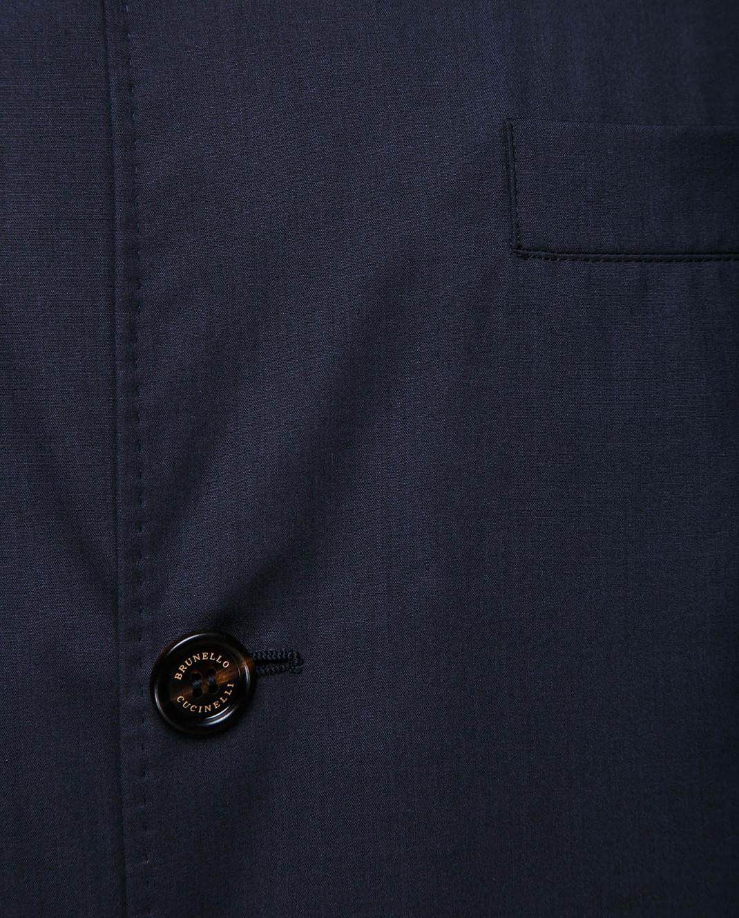 Brunello Cucinelli Темно-синий пиджак MH4626132 изображение 5